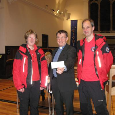 Presenting the cheque to CSAR