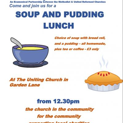 Soup and Pudding Lunch Garden  Lane  version 2